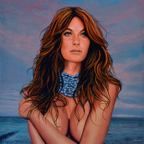 Gisele Bundchen painting by Paul Meijering