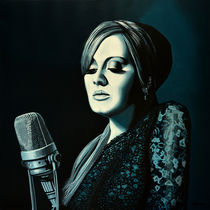 Adele Skyfall painting by Paul Meijering