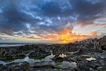 Rock Pool sunset by Dave Wilkinson