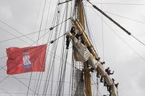 'Hamburg, Flagge auf Gorch Fock 2' von Marc Heiligenstein