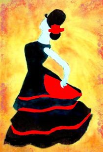 Flamenco dancer von nellyart