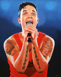 Robbie Williams painting by Paul Meijering