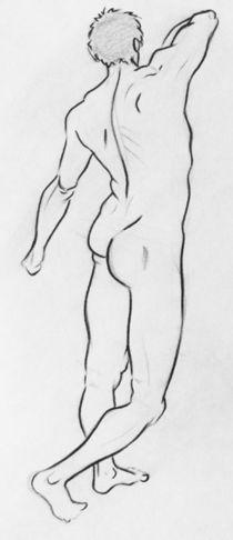 Nude Study-Male 1 von Raechel Raines