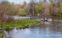 Kayaking On The Lazy River von John Bailey