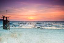 Sonnanaufgang am Strand von Cala Millor Mallorca von Dennis Stracke
