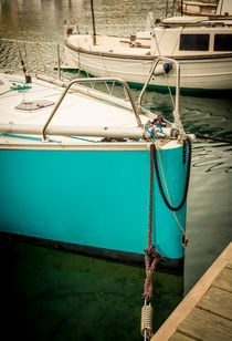 Turquoise sailboat von Christina Rahm