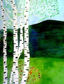 Birches by nellyart