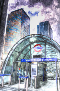 Canary Wharf Station Art von David Pyatt