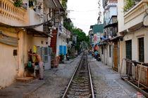 Morning Toilet neat the Hanoi Railroad by bokehlicate