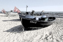 Boat on the Beach - Boote am Strand by Jörg Hoffmann