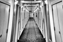 Hotel Corridor BW by Joseph Borsi