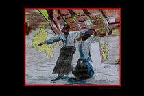 Aikidoka in einer alten Scheune von sarah-strobl