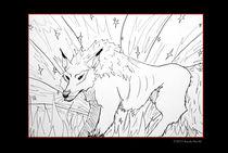 Wolf im hohen Gras von sarah-strobl