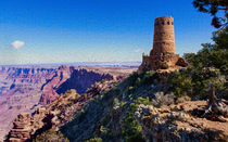 The Desert View Watchtower At The Grand Canyon von John Bailey