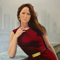 Jennifer Lawrence painting von Paul Meijering