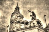 Big Ben and Boadicea Statue  by David Pyatt