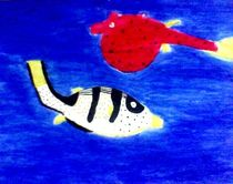 Sea World: Cowfish and pufferfish by nellyart