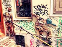 Skater Streetart Ljubljana von Nicole Steinbach