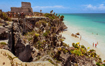 Stairway To The Tulum Beach by John Bailey