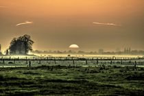 Niederrheinlandschaft bei Sonnenuntergang von augenblicke