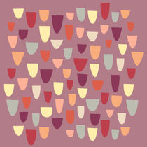 Nougat Mid Century Pattern by Nic Squirrell