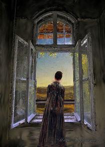 Frau am Fenster.  by Marie Luise Strohmenger