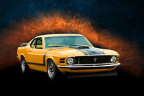 Orange 1970 Boss 302 Mustang by Stuart Row