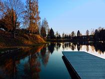 Romantischer Herbstabend am Badesee 5 | Landschaftsfotografie by Patrick Jobst