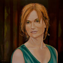 Isabelle Huppert painting by Paul Meijering