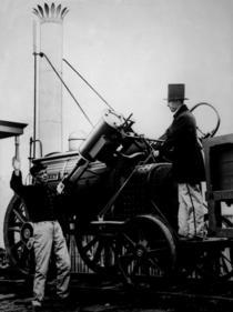 Replica of Stephenson`s Rocket, 1929 (b/w photo) von Bridgeman Art