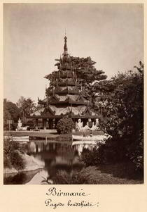 Buddhist rest house, Moulmein, Burma, c1875 von Bridgeman Art