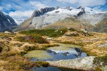 Schneebedeckte Berge spiegeln sich im Wasser by Matthias Hauser