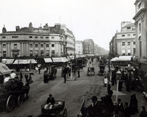 View down Oxford Street, London, c1890 von Bridgeman Art