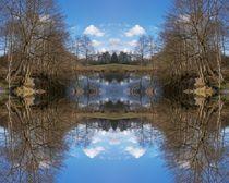 Am blauen Teich 2 - Durchgang by Tatjana Wicke