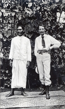 Robert Louis Stevenson and Tuimale Aliifono von Bridgeman Art