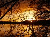 Sonnenuntergang am Kellersee von Tatjana Wicke
