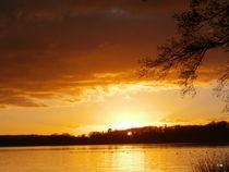 Sonnenuntergang am Kellersee -2 by Tatjana Wicke