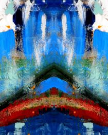 Blaue Fläche mit rotem Band by Tatjana Wicke