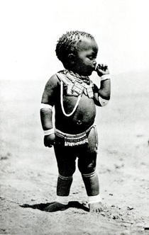Zulu Girl Sucking First Finger von Bridgeman Art