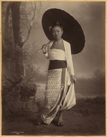 Burmese lady albumen print by Bridgeman Art