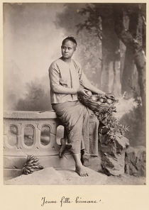 Young Burmese girl, c1880 by Bridgeman Art