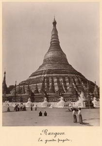 The Shwedagon Pagoda at Rangoon, Burma, c1860 von Bridgeman Art