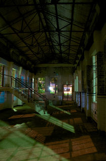Balmain Power Station at Night by Tim Leavy