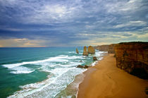 The 12 apostles on the Great Ocean Drive by Tim Leavy