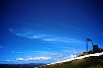 Top of the T-Bar lift at Thredbo in the summer by Tim Leavy