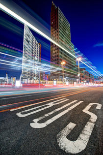 Potsdamer Platz Lightstreams by Marcus  Klepper