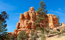 Red Rock And Blue Sky At Red Canyon State Park von John Bailey