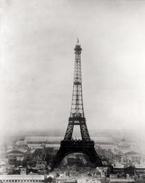 Construction of the Eiffel Tower, 31st March 1889  by Bridgeman Art
