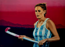 Luciana Aymar painting by Paul Meijering