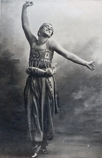 Vaslav Nijinsky in the role of the Black Slave by Bridgeman Art